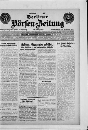 Berliner Börsen-Zeitung vom 22.02.1930