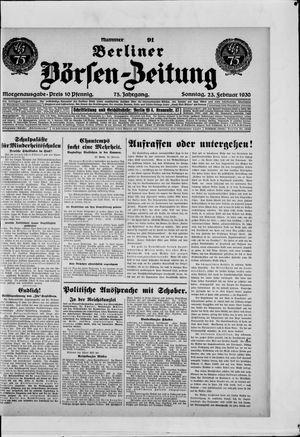 Berliner Börsen-Zeitung vom 23.02.1930