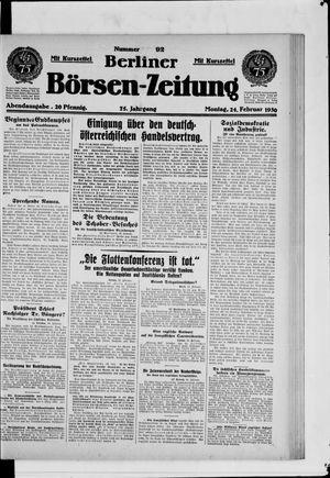 Berliner Börsen-Zeitung vom 24.02.1930