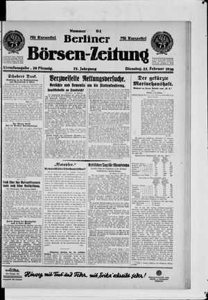 Berliner Börsen-Zeitung vom 25.02.1930