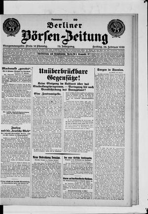Berliner Börsen-Zeitung vom 28.02.1930