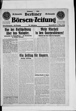 Berliner Börsen-Zeitung on Mar 1, 1930
