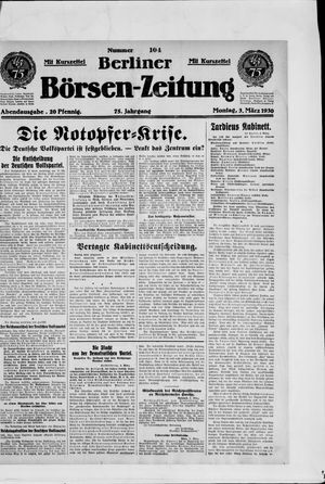 Berliner Börsen-Zeitung vom 03.03.1930