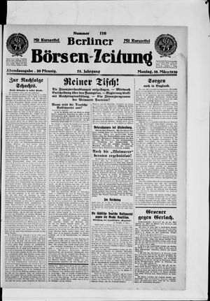 Berliner Börsen-Zeitung vom 10.03.1930