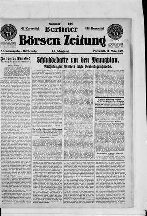 Berliner Börsen-Zeitung vom 12.03.1930
