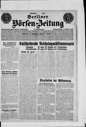 Berliner Börsen-Zeitung vom 13.03.1930