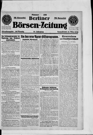 Berliner Börsen-Zeitung vom 15.03.1930