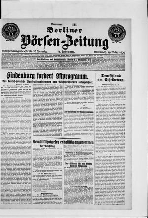 Berliner Börsen-Zeitung vom 19.03.1930