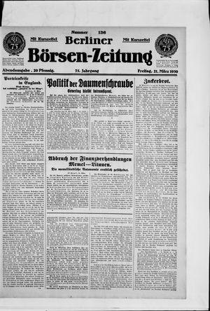 Berliner Börsen-Zeitung vom 21.03.1930