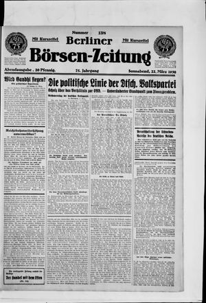 Berliner Börsen-Zeitung vom 22.03.1930