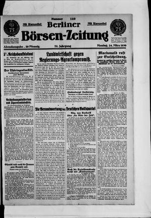 Berliner Börsen-Zeitung vom 24.03.1930