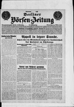 Berliner Börsen-Zeitung vom 25.03.1930
