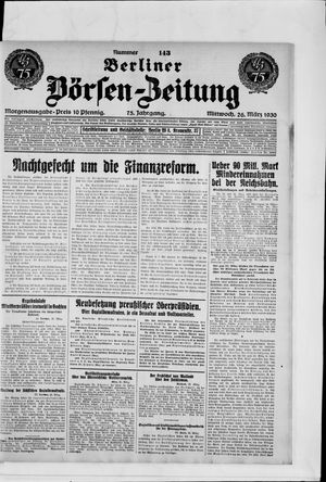 Berliner Börsen-Zeitung vom 26.03.1930