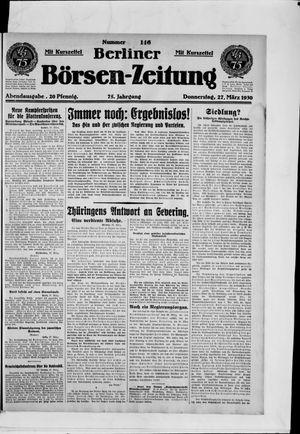 Berliner Börsen-Zeitung vom 27.03.1930