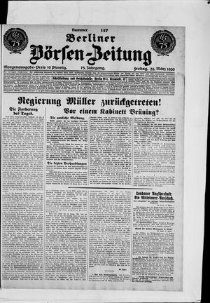 Berliner Börsen-Zeitung vom 28.03.1930