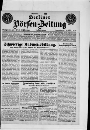 Berliner Börsen-Zeitung vom 29.03.1930