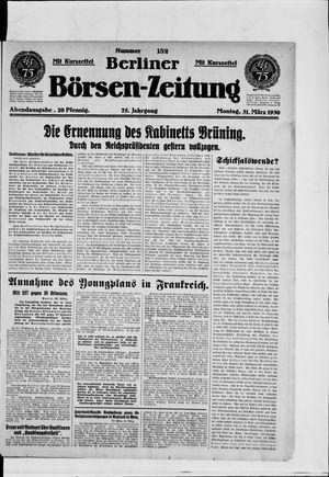 Berliner Börsen-Zeitung vom 31.03.1930