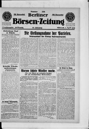 Berliner Börsen-Zeitung vom 02.04.1930