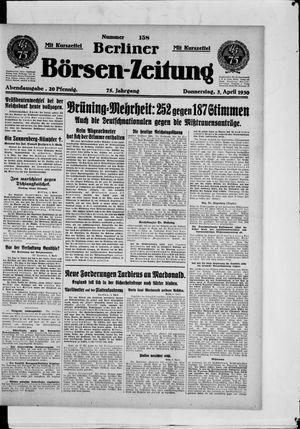 Berliner Börsen-Zeitung vom 03.04.1930