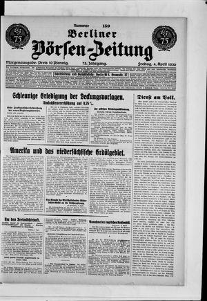 Berliner Börsen-Zeitung vom 04.04.1930