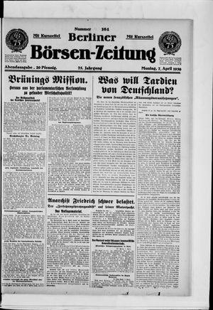 Berliner Börsen-Zeitung vom 07.04.1930