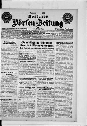 Berliner Börsen-Zeitung vom 08.04.1930