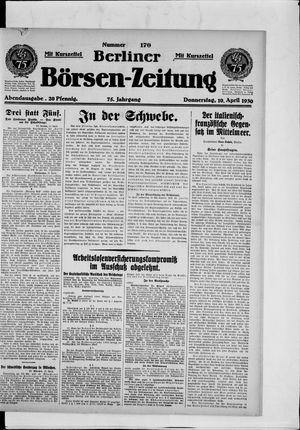 Berliner Börsen-Zeitung vom 10.04.1930