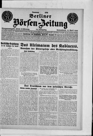 Berliner Börsen-Zeitung vom 12.04.1930