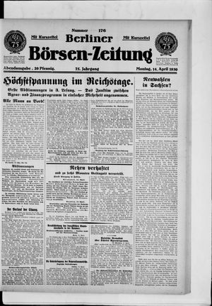 Berliner Börsen-Zeitung vom 14.04.1930