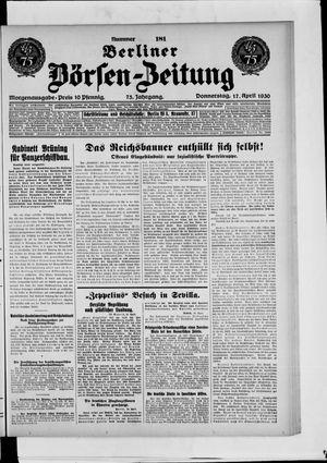 Berliner Börsen-Zeitung vom 17.04.1930
