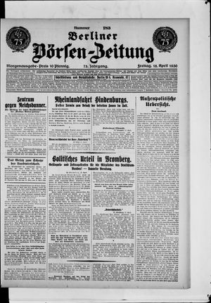 Berliner Börsen-Zeitung vom 18.04.1930
