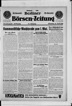 Berliner Börsen-Zeitung vom 22.04.1930
