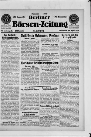Berliner Börsen-Zeitung vom 23.04.1930