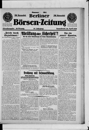 Berliner Börsen-Zeitung vom 26.04.1930