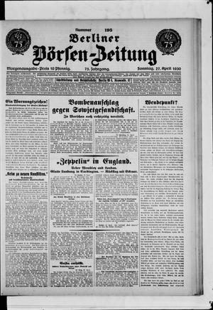 Berliner Börsen-Zeitung vom 27.04.1930