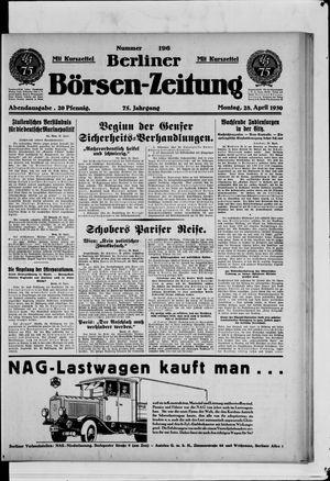 Berliner Börsen-Zeitung vom 28.04.1930