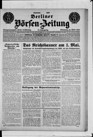 Berliner Börsen-Zeitung vom 29.04.1930