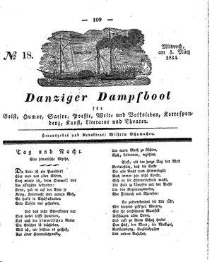 Danziger Dampfboot für Geist, Humor, Satire, Poesie, Welt- und Volksleben, Korrespondenz, Kunst, Literatur und Theater vom 05.03.1834