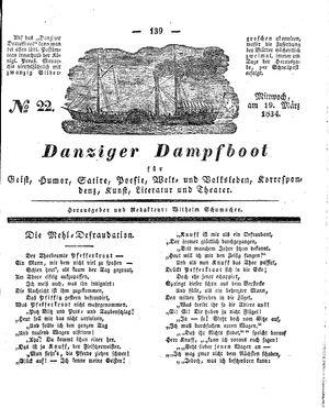 Danziger Dampfboot für Geist, Humor, Satire, Poesie, Welt- und Volksleben, Korrespondenz, Kunst, Literatur und Theater vom 19.03.1834