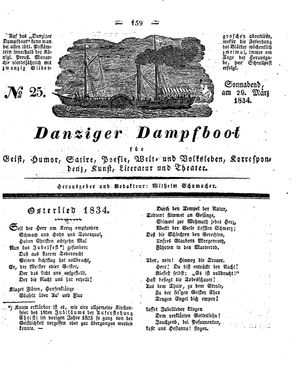 Danziger Dampfboot für Geist, Humor, Satire, Poesie, Welt- und Volksleben, Korrespondenz, Kunst, Literatur und Theater vom 29.03.1834