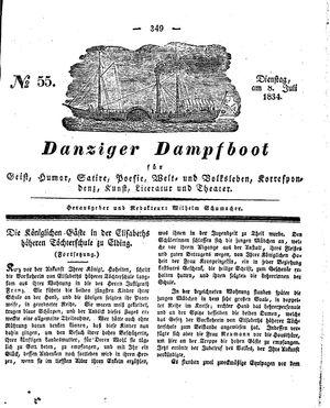 Danziger Dampfboot für Geist, Humor, Satire, Poesie, Welt- und Volksleben, Korrespondenz, Kunst, Literatur und Theater vom 08.07.1834