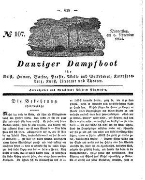 Danziger Dampfboot für Geist, Humor, Satire, Poesie, Welt- und Volksleben, Korrespondenz, Kunst, Literatur und Theater vom 06.11.1834