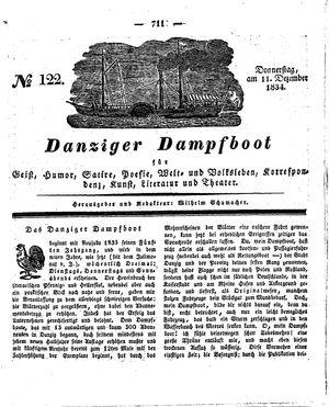 Danziger Dampfboot für Geist, Humor, Satire, Poesie, Welt- und Volksleben, Korrespondenz, Kunst, Literatur und Theater vom 11.12.1834