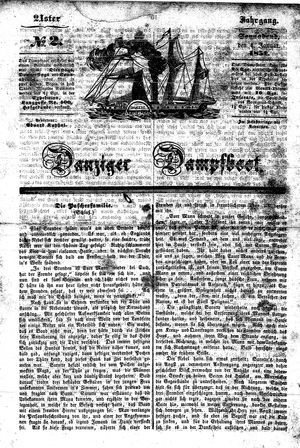 Danziger Dampfboot für Geist, Humor, Satire, Poesie, Welt- und Volksleben, Korrespondenz, Kunst, Literatur und Theater vom 04.01.1851