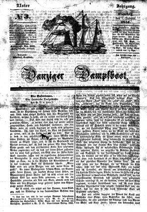 Danziger Dampfboot für Geist, Humor, Satire, Poesie, Welt- und Volksleben, Korrespondenz, Kunst, Literatur und Theater vom 07.01.1851