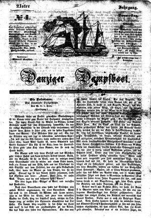 Danziger Dampfboot für Geist, Humor, Satire, Poesie, Welt- und Volksleben, Korrespondenz, Kunst, Literatur und Theater vom 09.01.1851