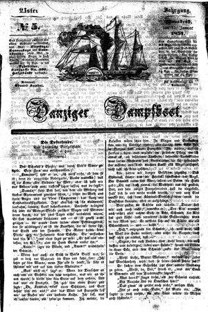 Danziger Dampfboot für Geist, Humor, Satire, Poesie, Welt- und Volksleben, Korrespondenz, Kunst, Literatur und Theater vom 11.01.1851
