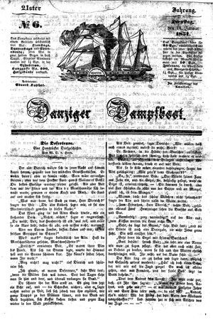 Danziger Dampfboot für Geist, Humor, Satire, Poesie, Welt- und Volksleben, Korrespondenz, Kunst, Literatur und Theater vom 14.01.1851