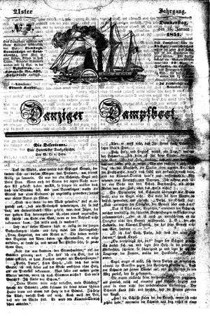 Danziger Dampfboot für Geist, Humor, Satire, Poesie, Welt- und Volksleben, Korrespondenz, Kunst, Literatur und Theater vom 16.01.1851