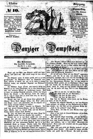 Danziger Dampfboot für Geist, Humor, Satire, Poesie, Welt- und Volksleben, Korrespondenz, Kunst, Literatur und Theater vom 23.01.1851